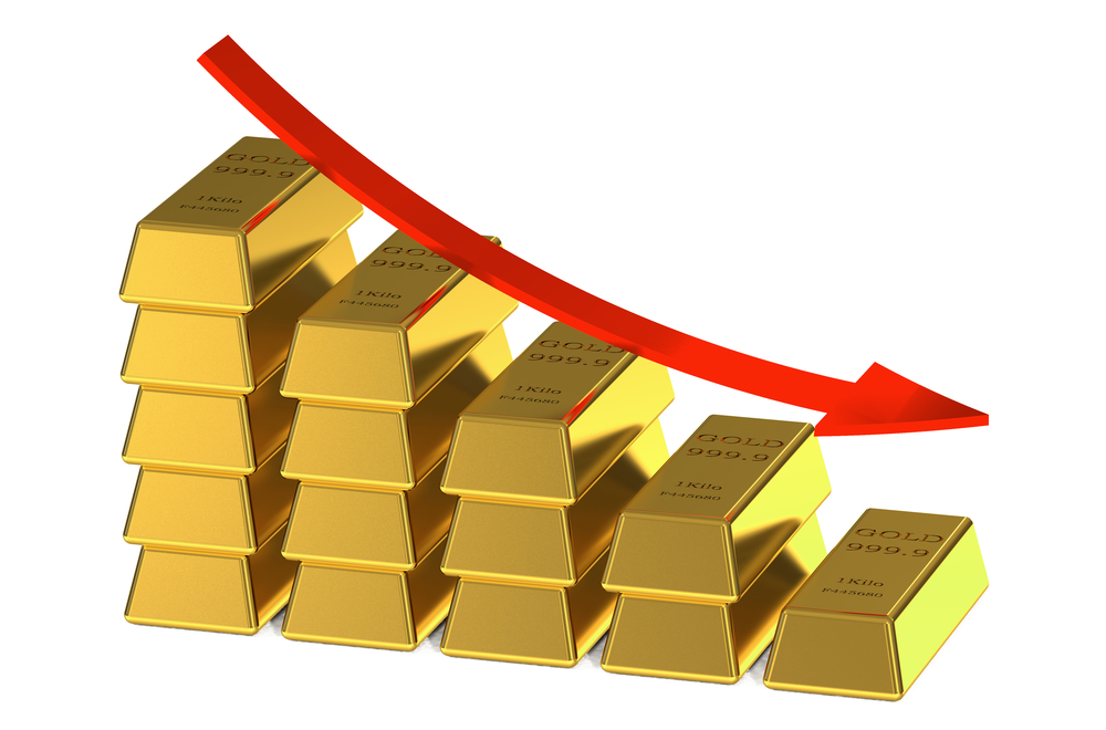 Gold price down by Rs 100 per tola today